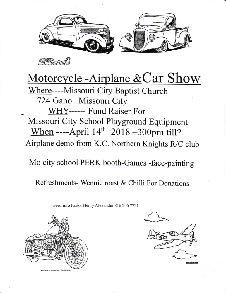 Motorcycle, Airplane, and Car Show @ Missouri City Baptist Church | Yeoval | New South Wales | Australia
